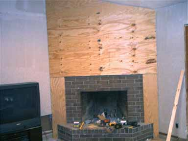 Brick Fireplace Cover Up Submited Images