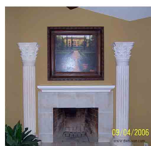 Covering Brick Fireplace